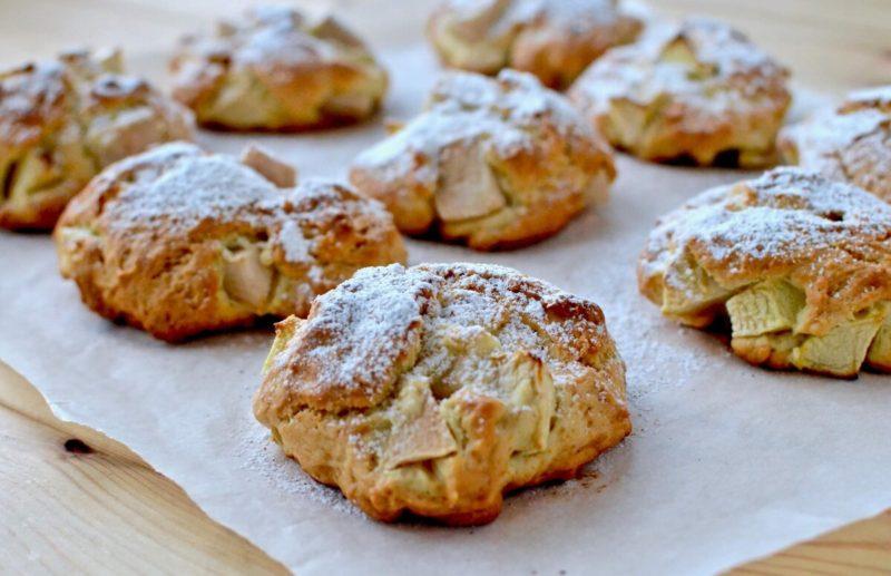 Воздушное яблочное печенье на скорую руку, даже тесто не нужно раскатывать 1