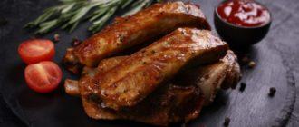 Рёбрышки в горчице. Мясо получается сочным и нежным 2