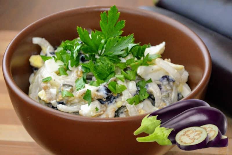 Салат с баклажанами и яйцами. Невозможно отличить от мясного
