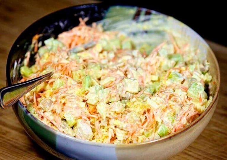 Салат с курицей и огурцами по-корейски. Обалденное блюдо на праздничный стол