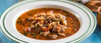 Фасолевый суп с говядиной. Мясной сытный суп, который всегда выручит к ужину 7